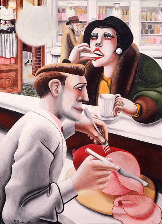 The Snack Bar (1930), Edward Burra. © The estate of Edward Burra, courtesy Lefevre Fine Art, London