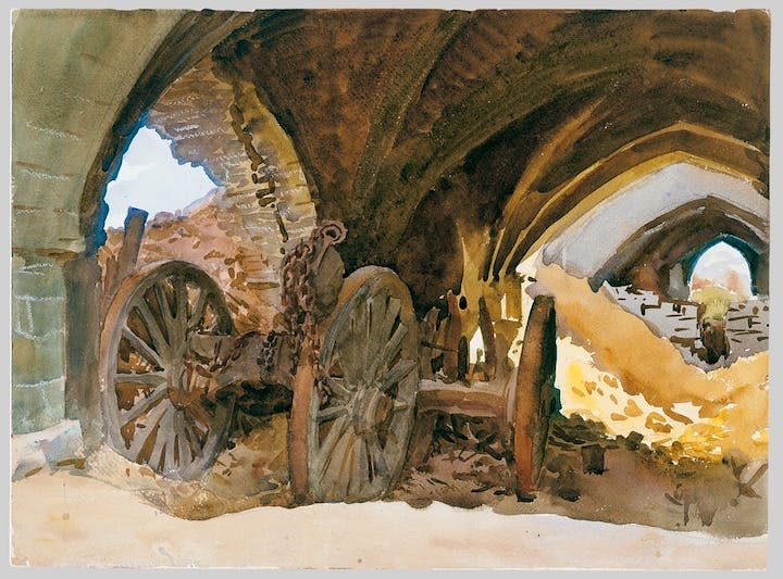 Wheels in Vault (1918), John Singer Sargent. The Metropolitan Museum of Art