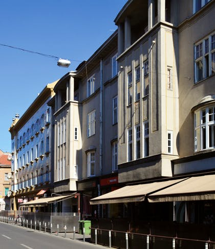 The townhouses designed by Viktor Kovačić on Masarykova, Zagreb