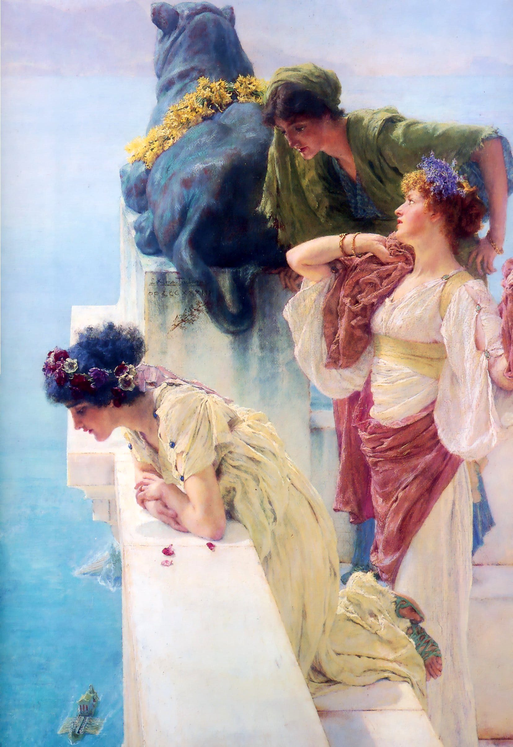 A Coign of Vantage (1895), Lawrence Alma-Tadema. Private collection. Wikimedia commons