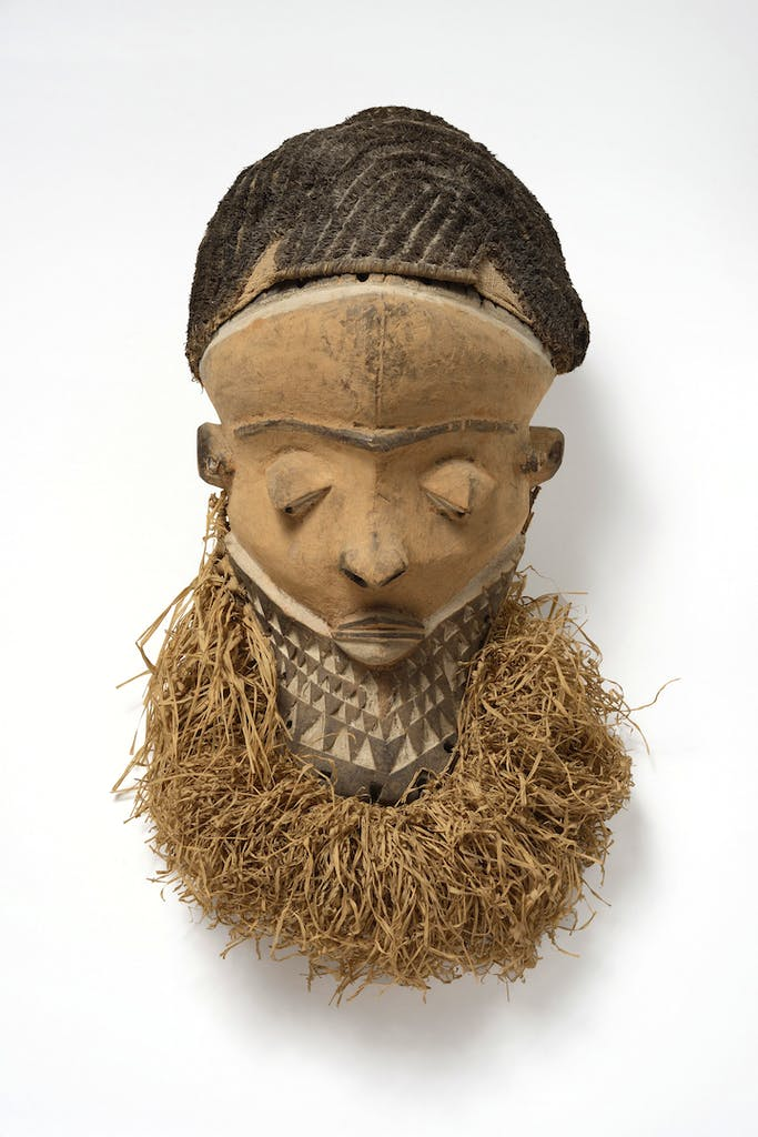 Muyombo mask, Pende region, Democratic Republic of the Congo, 19th-early 20th century. Photo by Jean-Louis Losi