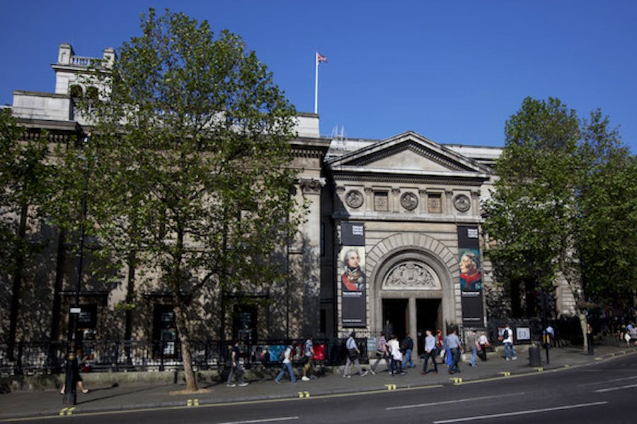 Exterior of the National Portrait Gallery, London