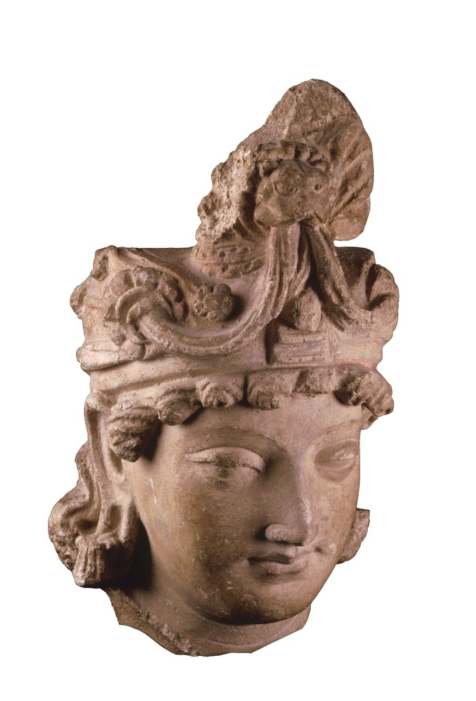Head of a bodhisattva 3rd–4th century, Hadda, Afghanistan, Photo: © Musée Guimet, Paris, Dist. RMN–Grand Palais/Thierry Ollivier