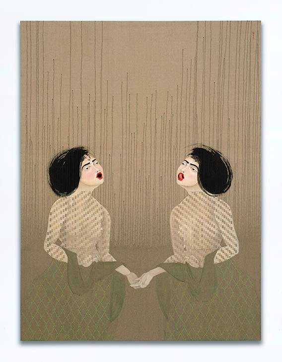 T25 and T26 (2017), Hayv Kahraman. © Hayv Kahraman. Courtesy the artist and Jack Shainman Gallery, New York