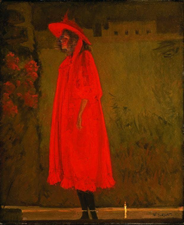 Minnie Cunningham at the Old Bedford, (1892), Walter Sickert.