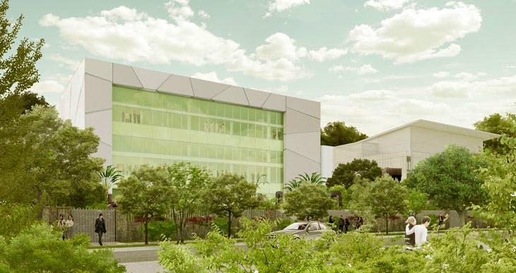 Artist rendering of ICA Miami, North Facade. Courtesy of Aranguren & Gallegos Arquitectos and Wolfberg Alvarez