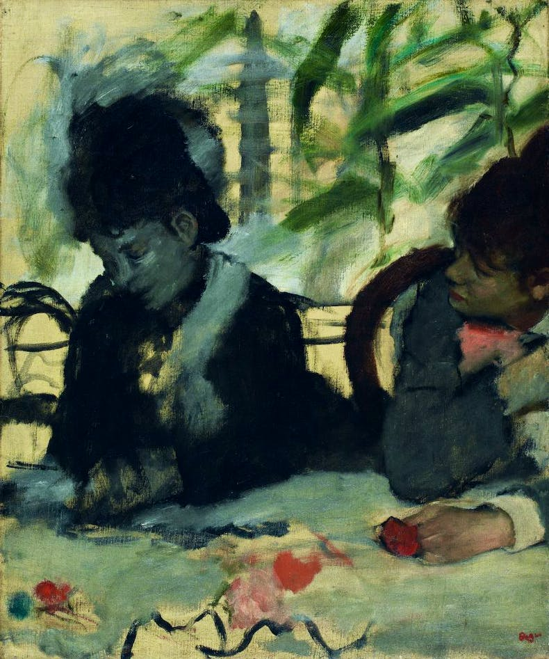 At the Cafe, (c. 1875–77), Edgar Degas,