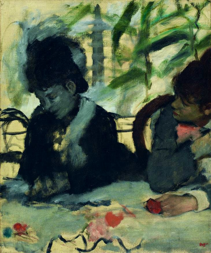 At the Cafe (detail) (c. 1875–77, Edgar Degas.