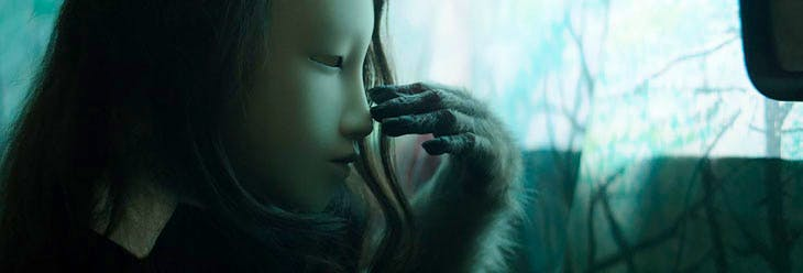 No Name (Human's Mask) (2014), Pierre Huyghe. Courtesy: the artist, Hauser & Wirth, London, and Anna Lena Films, Paris