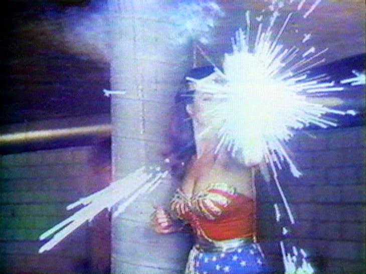 Technology/Transformation: Wonder Woman (video still; 1978–79), Dara Birnbaum. Courtesy of the artist and Electronic Arts Intermix