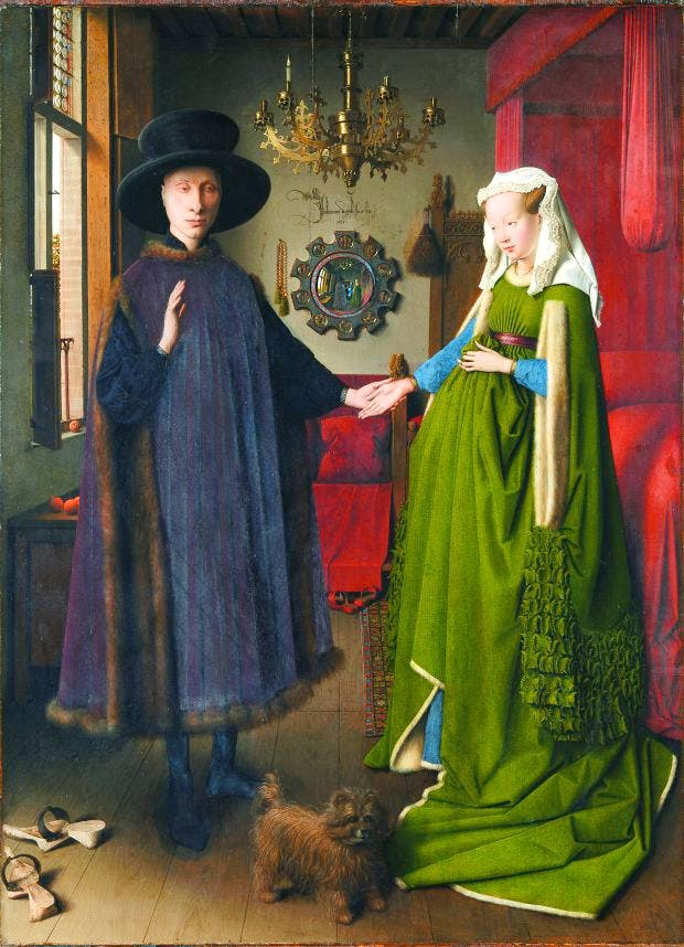 Portrait of Giovanni (?) Arnolfini and his Wife, (1434), Jan van Eyck, National Gallery, London