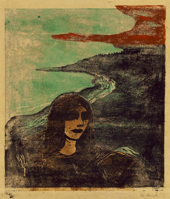 Girl's Head Against the Shore (1899), Edvard Munch. Courtesy of National Gallery of Art, Washington