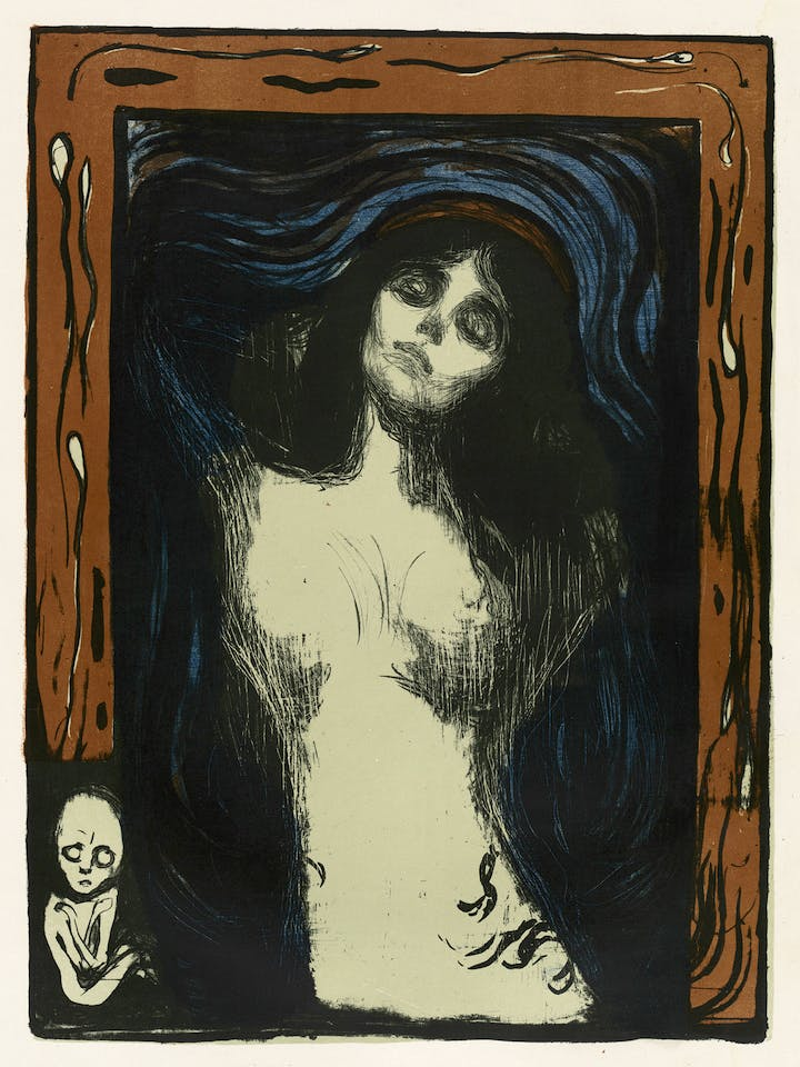 Madonna (1895, printed 1913/14), Edvard Munch. Courtesy of National Gallery of Art, Washington