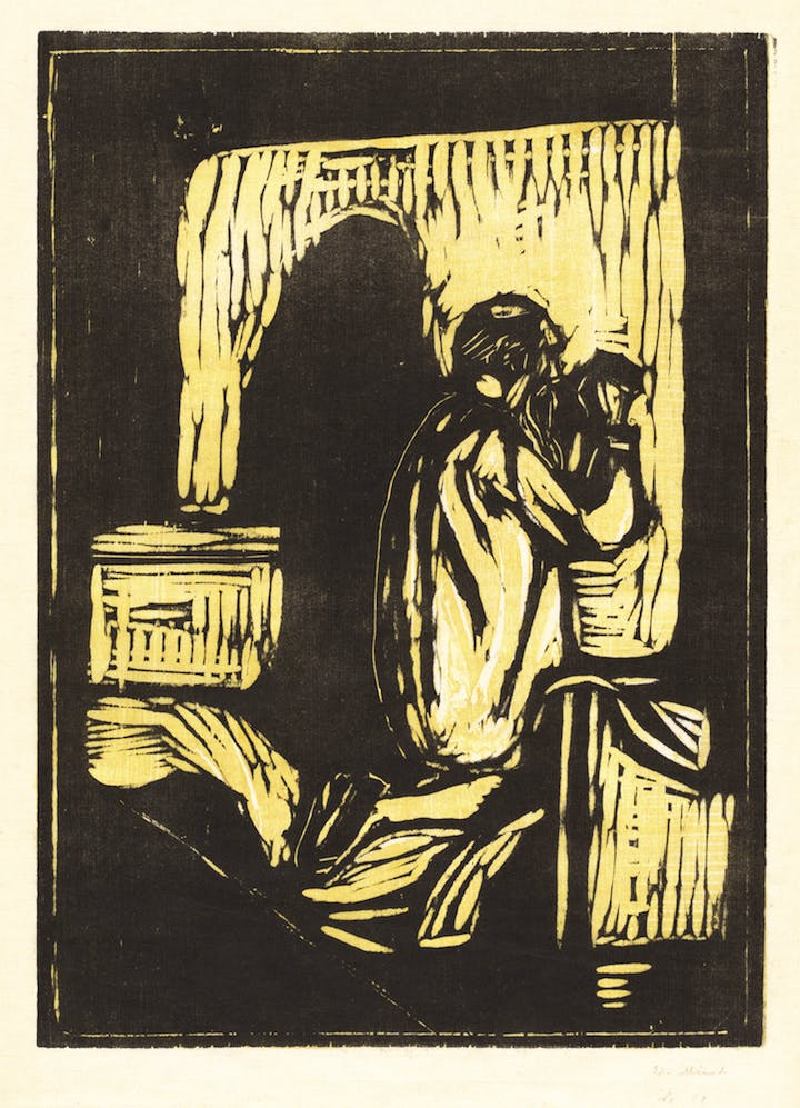 Old Man Praying (1902), Edvard Munch. Courtesy of National Gallery of Art, Washington