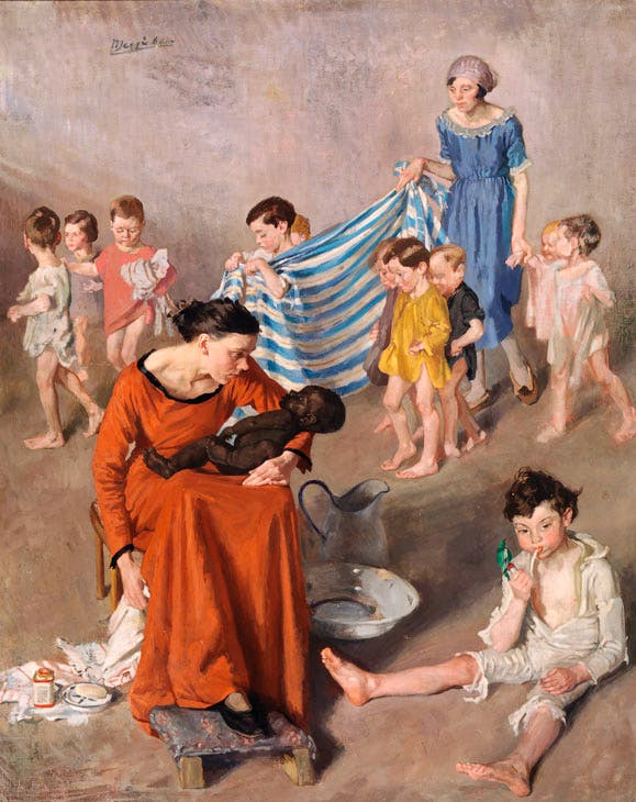 Bathtime at the Crèche (c. 1925), Margaret Clarke. National Gallery of Ireland. © Artist's Estate. Photo © National Gallery of Ireland