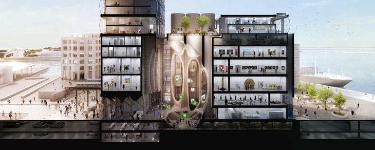 Rendering of the Zeitz MOCAA floor plan. Courtesy of Heatherwick Studio