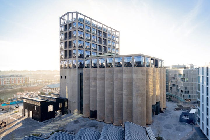 Exterior view of the Zeitz MOCAA Silo Square. Credit: Iwan Baan / Heatherwick Studio