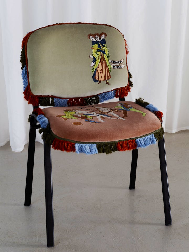 Untitled chairs for All Whores are Jacobites (2017), Georgia Horgan. Image courtesy of the artist