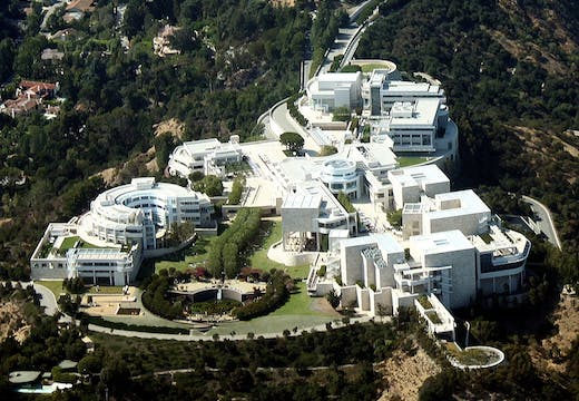 The Getty Center museum in Brentwood, Los Angeles. Photo: Wikimedia Commons