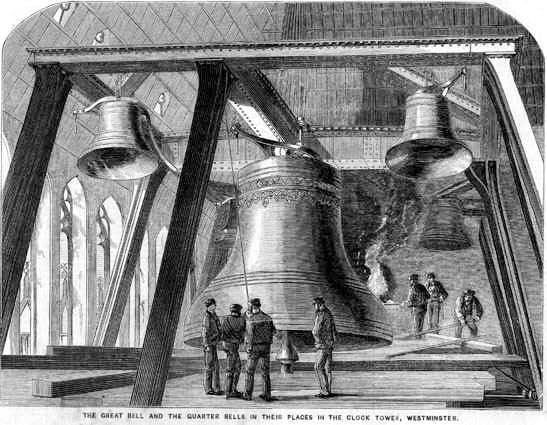 Big Ben from 'The Illustrated News of the World', 4 December 1858. Photo: Wikimedia Commons