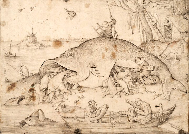 Big Fish eats Little Fish (1556), Pieter Bruegel the Elder. © The Albertina Museum, Vienna