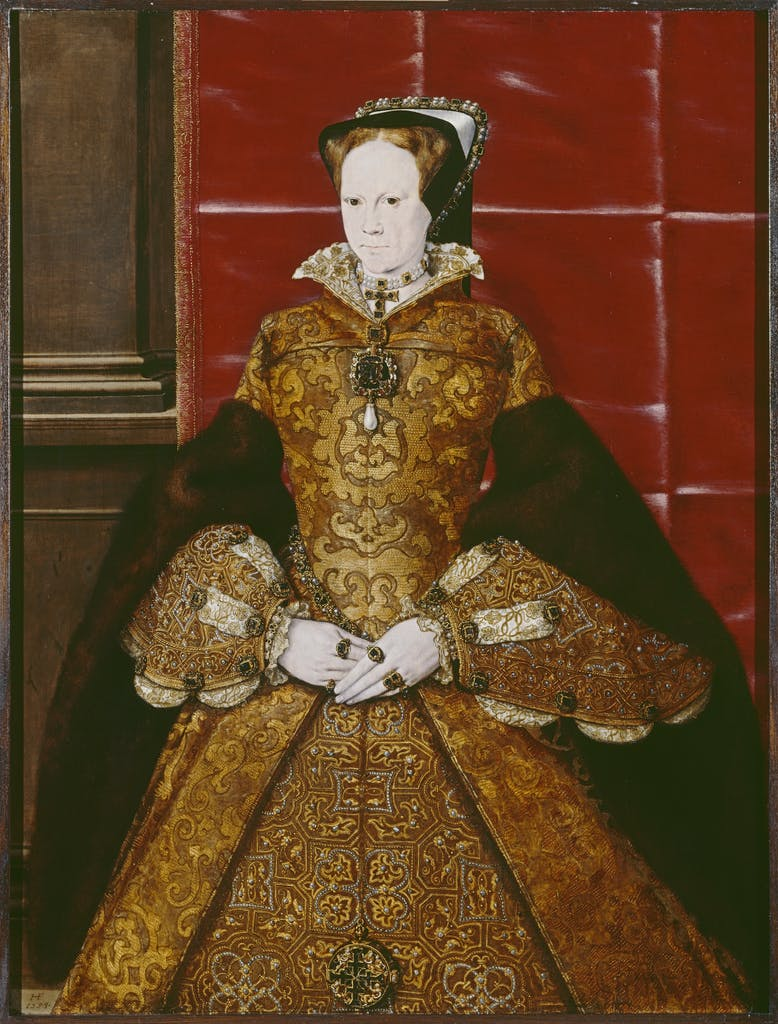 Portrait of Mary I, (c. 1554), Hans Eworth,Society of Antiquaries of London