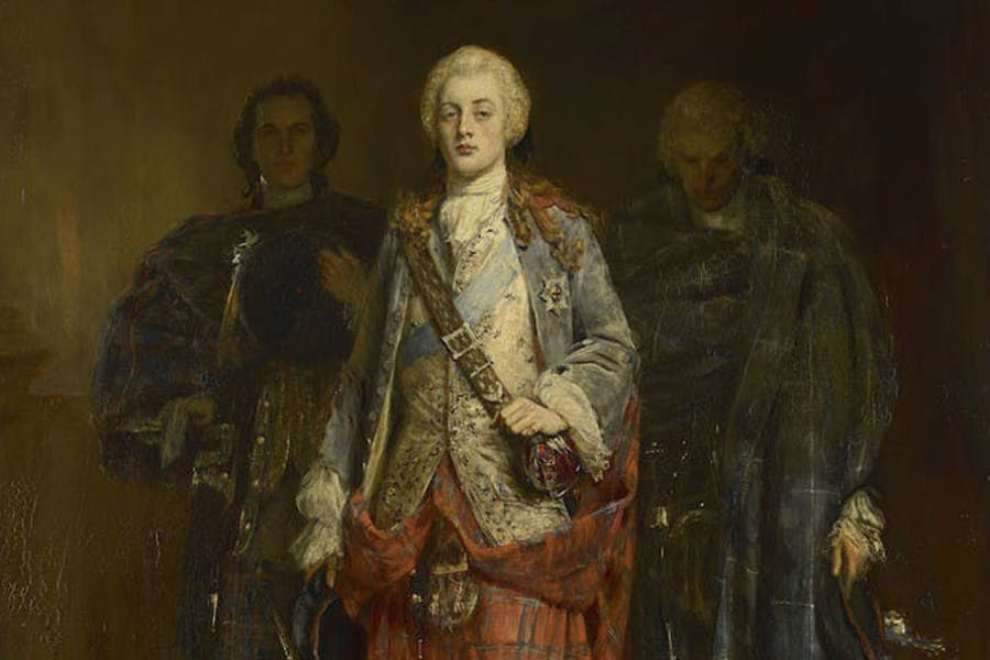 Bonnie Prince Charlie Entering the Ballroom at Holyroodhouse (detail; before 1982), John Pettie. © National Museums Scotland
