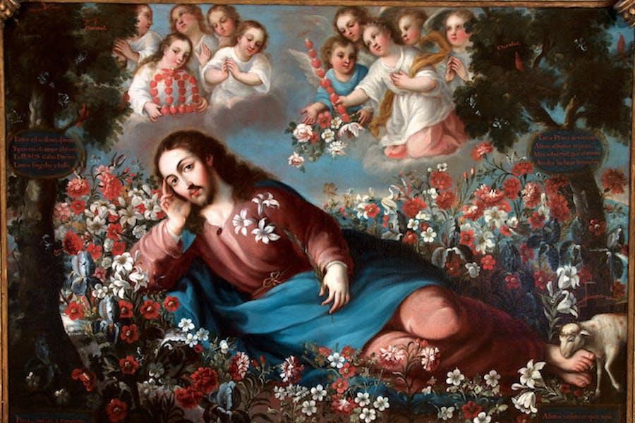 The Divine Spouse (c. 1750), Miguel Cabrera. Photo © Museum Associates/LACMA/Fomento Cultural Banamex, A.C., by Rafael Doniz