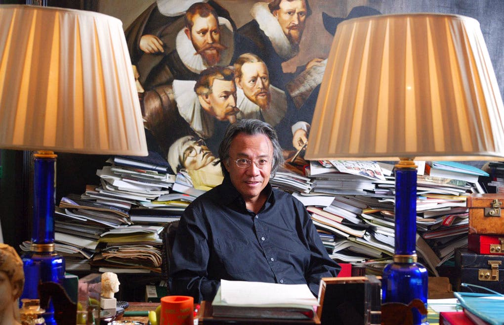 David Tang, at his office in Hong Kong, 15 November 2004. SAMANTHA SIN/AFP/Getty Images