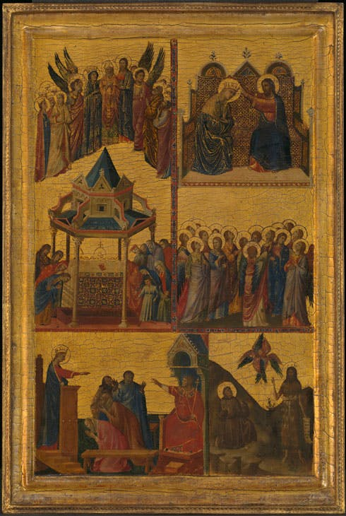 Scenes from the Lives of the Virgin and other Saints (1300–05), Giovanni da Rimini. © The National Gallery, London