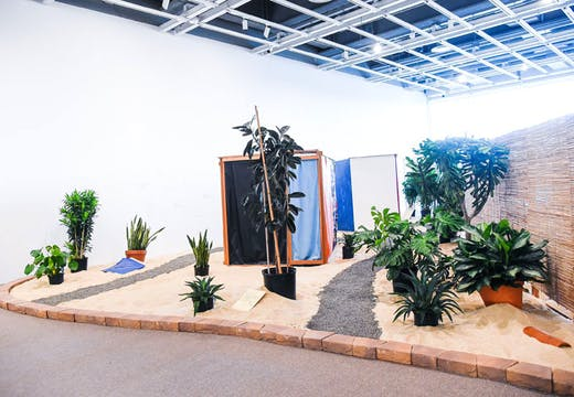 Tropicália (1966–67), Hélio Oiticica: installation view at the Whitney Museum of Art, New York, 2017. Collection of César and Claudio Oiticica. Photo: Matt Casarella