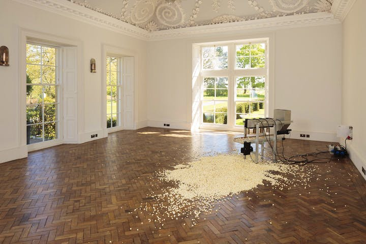 Installation view of 1:43–47, Salzburg (2012), Michael Sailstorfer. Courtesy Jupiter Artland