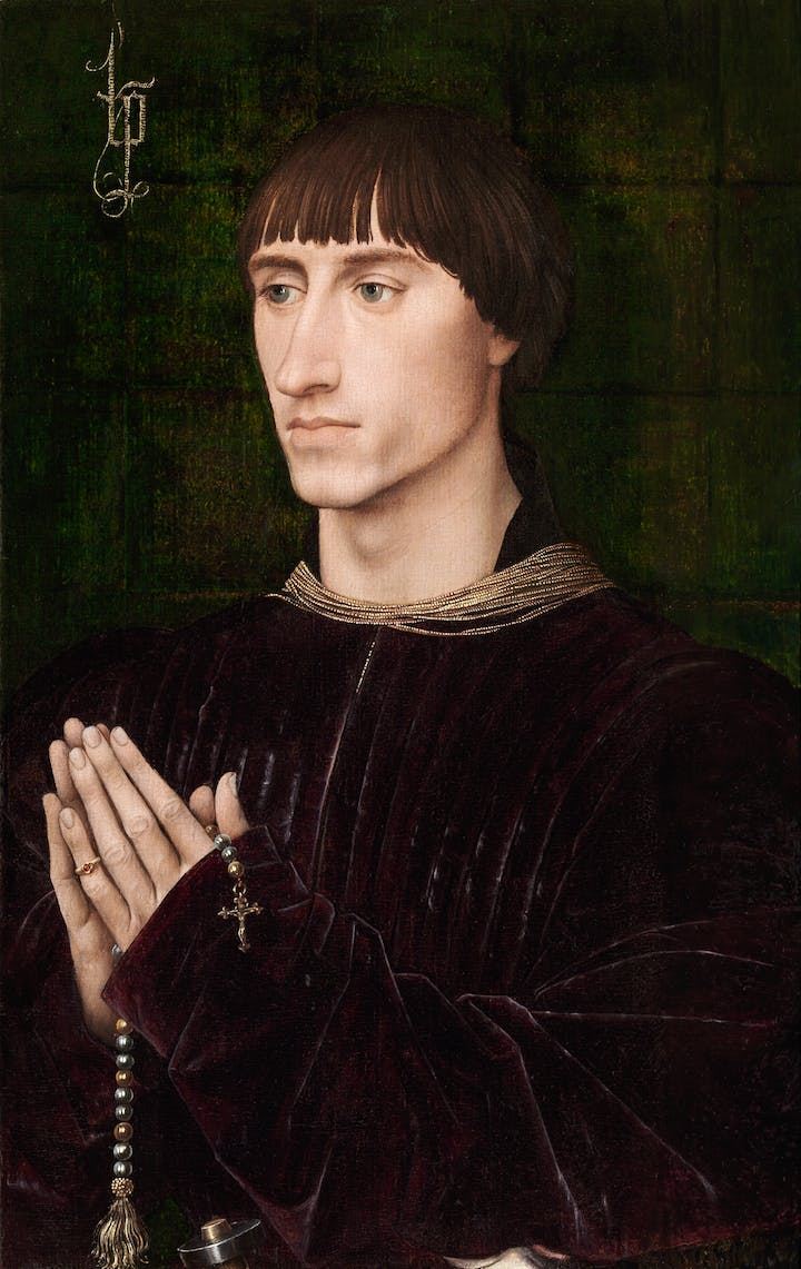 Portrait of Philippe de Croy (c. 1460), Rogier van der Weyden. © KMSKA/Lukas – Art in Flanders VZW, Photo: Hugo Maertens