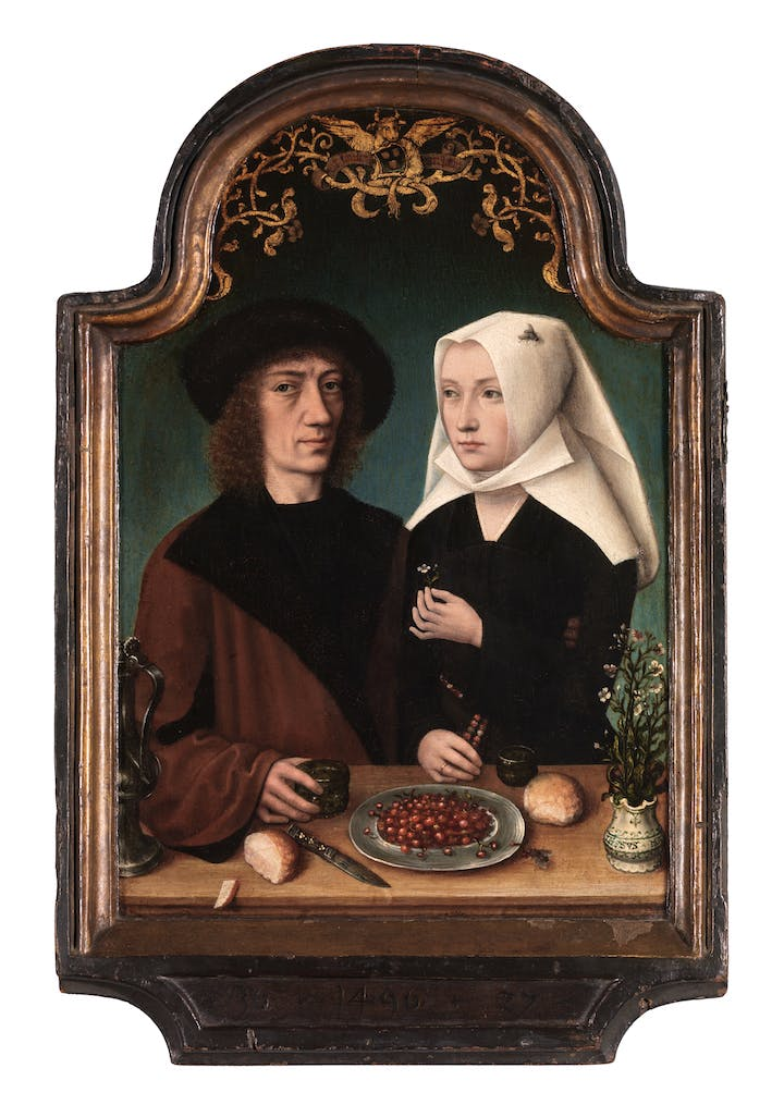Portrait of the painter and his wife (1496), Master of Frankfurt. © KMSKA/Lukas – Art in Flanders VZW, Photo: Hugo Maertens