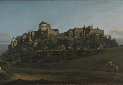 The Fortress of Königstein from the North (around 1756–58), Bernardo Bellotto. © The National Gallery, London