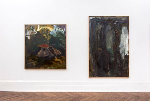 Installation view showing 'Untitled' (1989) and 'Untitled' (1983), Courtesy Michael Werner Gallery, New York and London