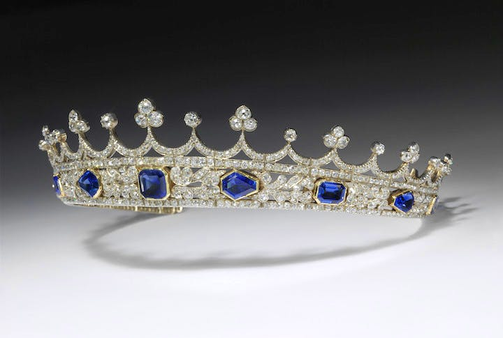 Queen Victoria's diamond and sapphire coronet, made by Joseph Kitching, 1840–42. © Victoria and Albert Museum, London