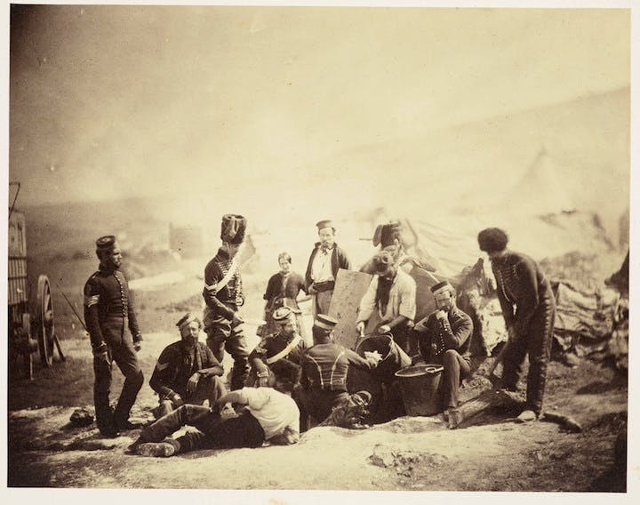 8th Hussars Cooking Hut (1855), Roger Fenton. Royal Collection Trust © Her Majesty Queen Elizabeth II 2017