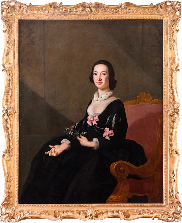 Portrait of a Lady (Miss Mary Jenkins?) (c. 1750), Richard Wilson. © National Museum of Wales