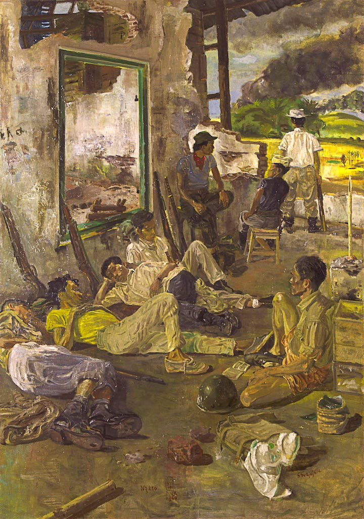 Ngaso (1964), Sindudarsono Sudjojono. Collection of Museum of Modern and Contemporary Art in Nusantara (Museum MACAN)