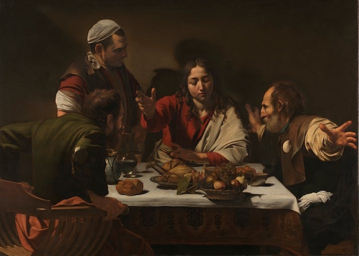 The Supper at Emmaus (1601), Michelangelo Merisi da Caravaggio. © The National Gallery, London