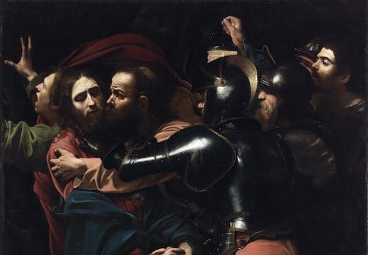 The Taking of Christ (1602), Michelangelo Merisi da Caravaggio. © The National Gallery of Ireland, Dublin