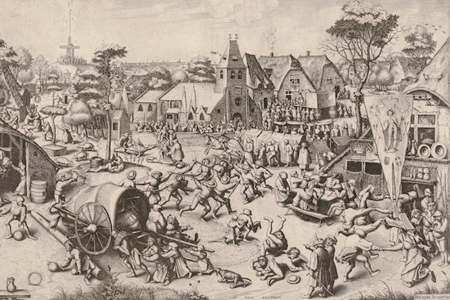 The Kermis of Saint George (ca. 1559), Pieter Bruegel the Elder (engraved by Jan and Lucas van Duetecum). © The Albertina Museum, Vienna