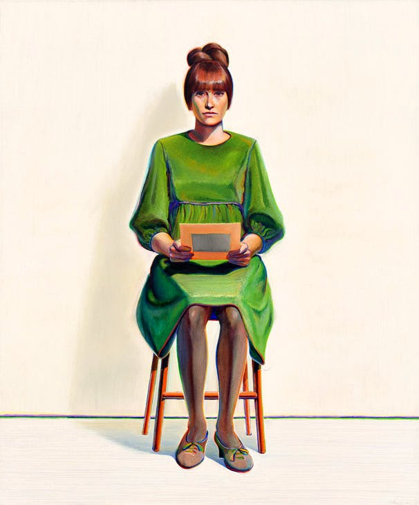 Green Dress (1966/2017), Wayne Thiebaud. Courtesy White Cube; © Wayne Thiebaud/DACS, London/VAGA, New York 2017