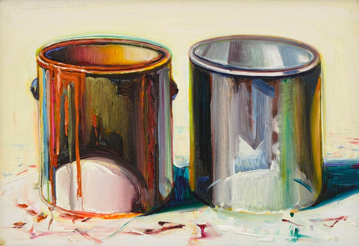 Two Paint Cans (1987), Wayne Thiebaud. Courtesy White Cube; © Wayne Thiebaud/DACS, London/VAGA, New York 2017