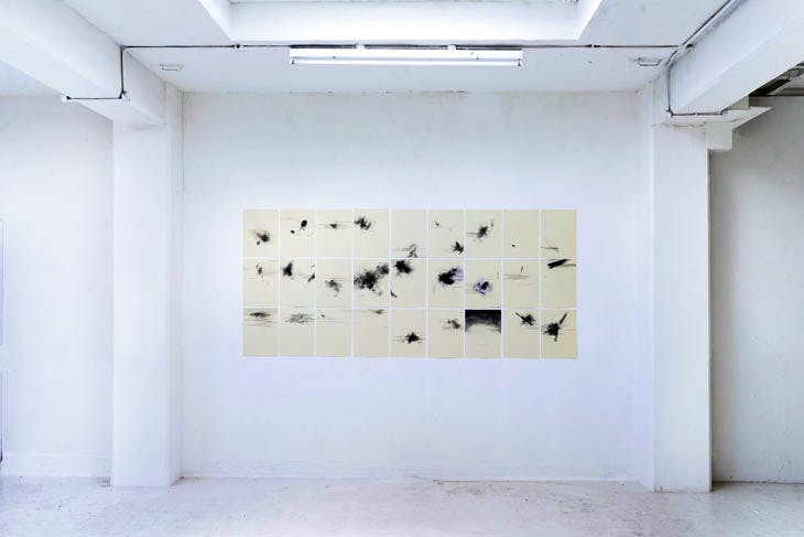 Laura Edmunds' work on display at Karst gallery, Plymouth. Photo: Dominic Moore, 2017