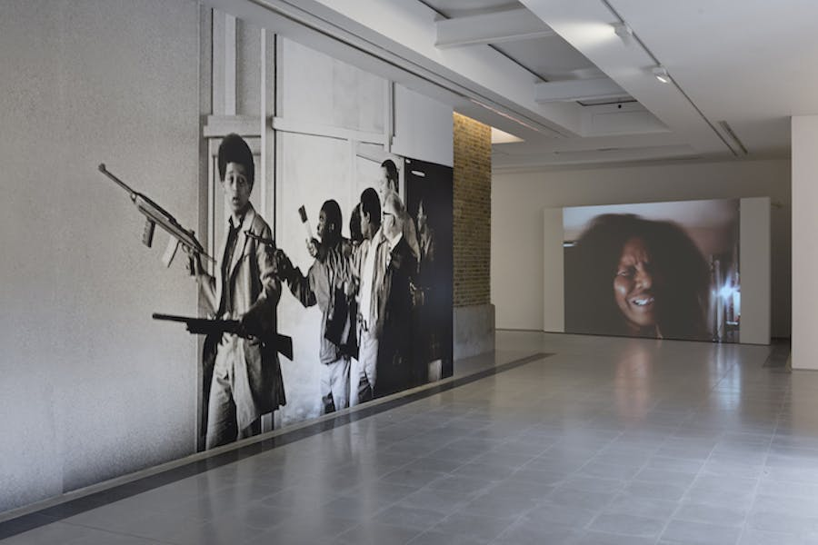 Installation view, 'Arthur Jafa: A Series of Utterly Improbable, Yet Extraordinary Renditions', Serpentine Sackler Gallery, London.