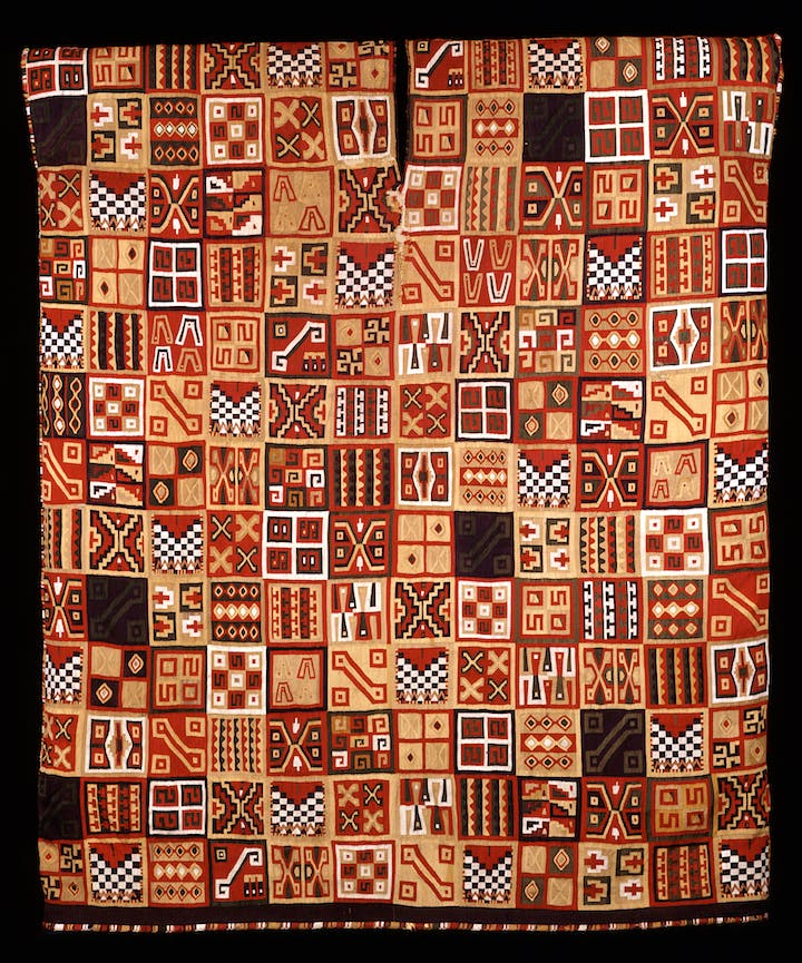 Inca Royal Tunic (All T'oqapu Tunic), around 1450–1540. © Dumbarton Oaks, Pre-Columbian Collection, Washington, DC