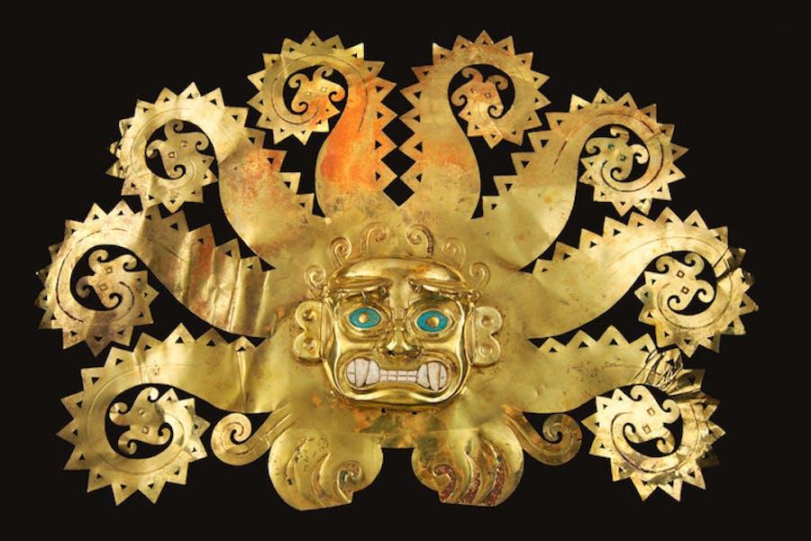 Octopus Frontlet, around 300–600 AD. Courtesy of Museo de la Nación, Ministerio de Cultura del Perú