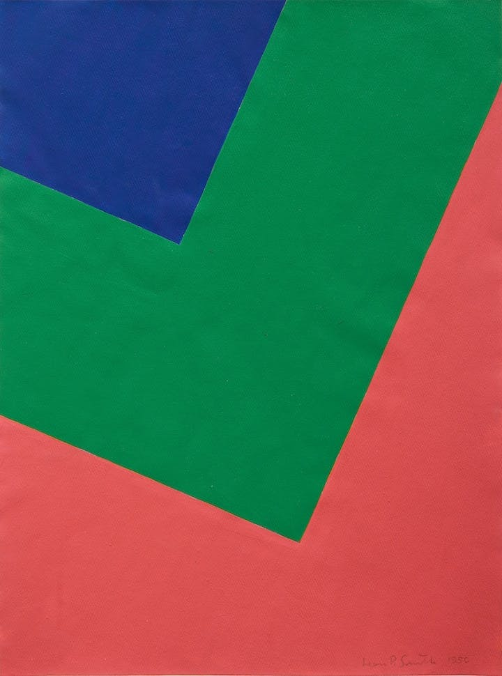 Untitled (1950), Leon Polk Smith. Courtesy of Blanton Museum of Art, The University of Texas at Austin